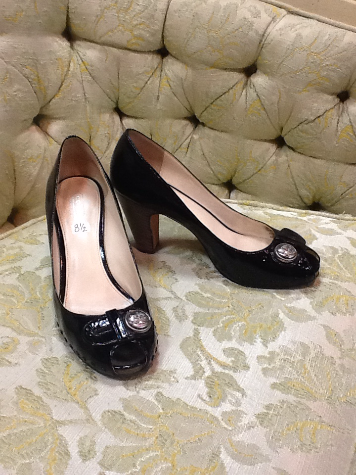 Black Coach Heels - 8.5