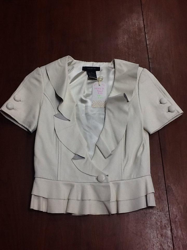 Arden B White leather blazer - XS