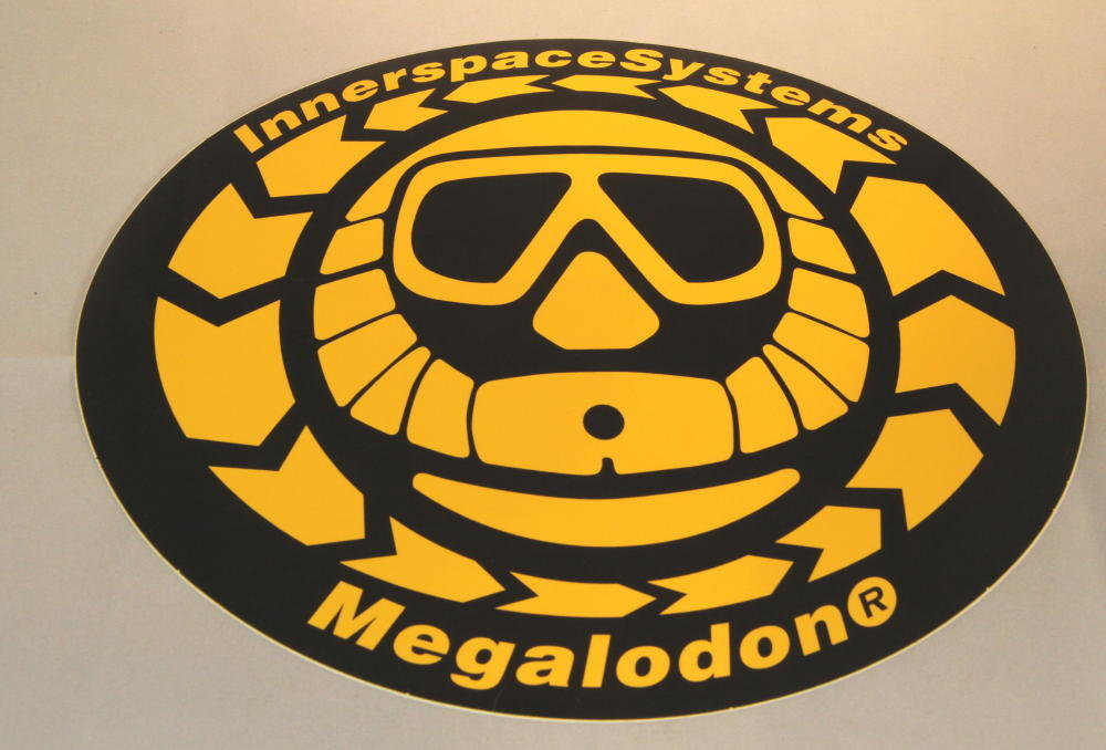 """ISC Megalodon Scrubber Can Logo """"large"""""""