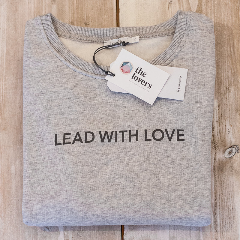 LEAD WITH LOVE by The Lovers, Sweater – grau / Druck grau 00006