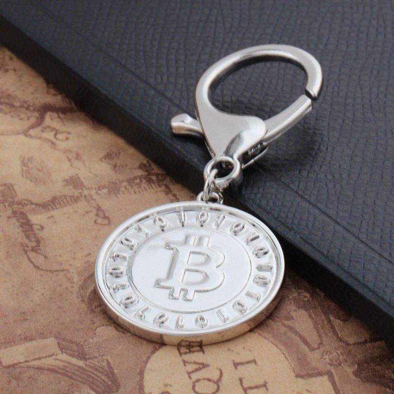 Bitcoin KeyChain Silver Color