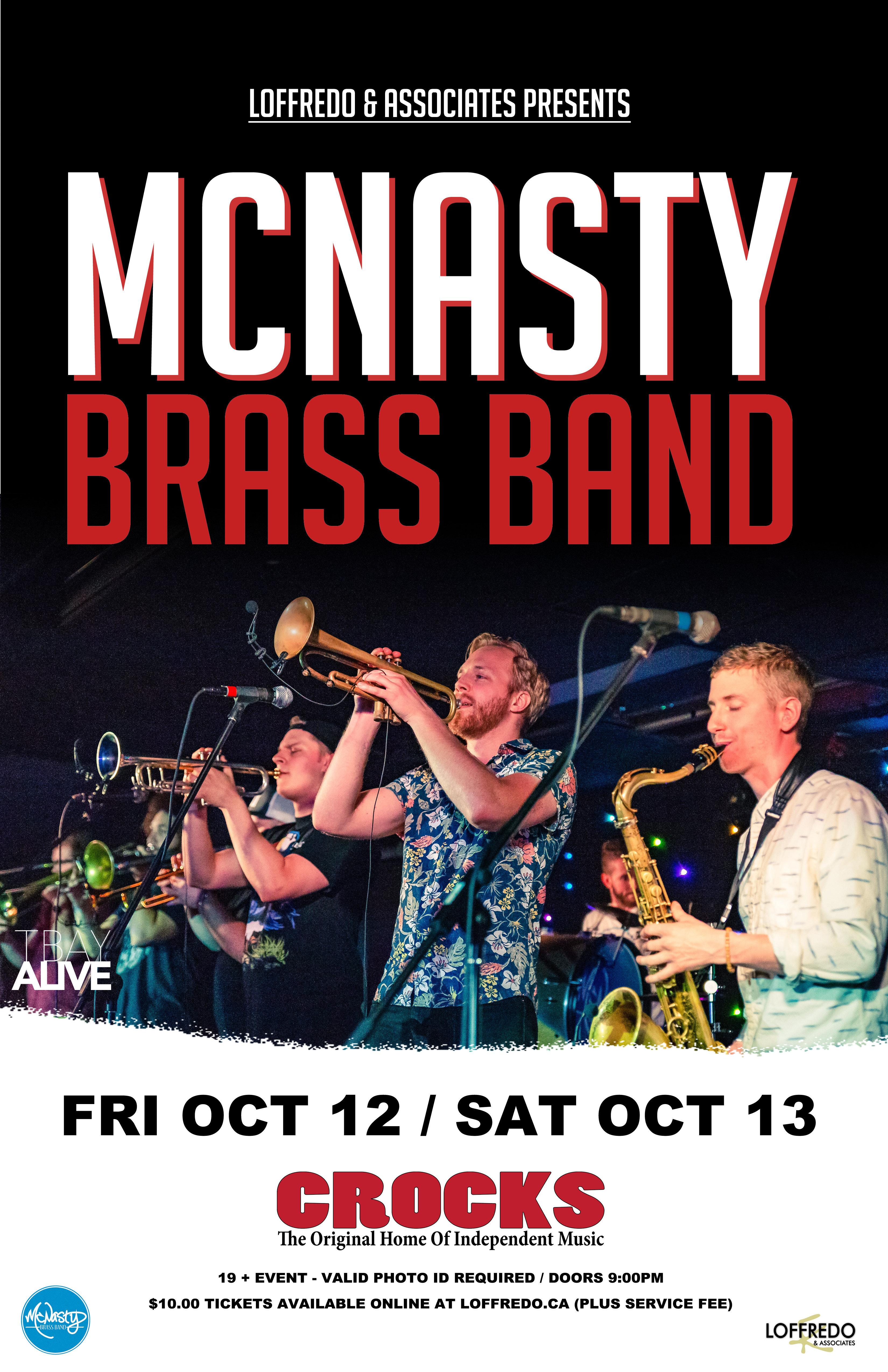 McNasty Brass Band - Oct 12th At Crocks 00274