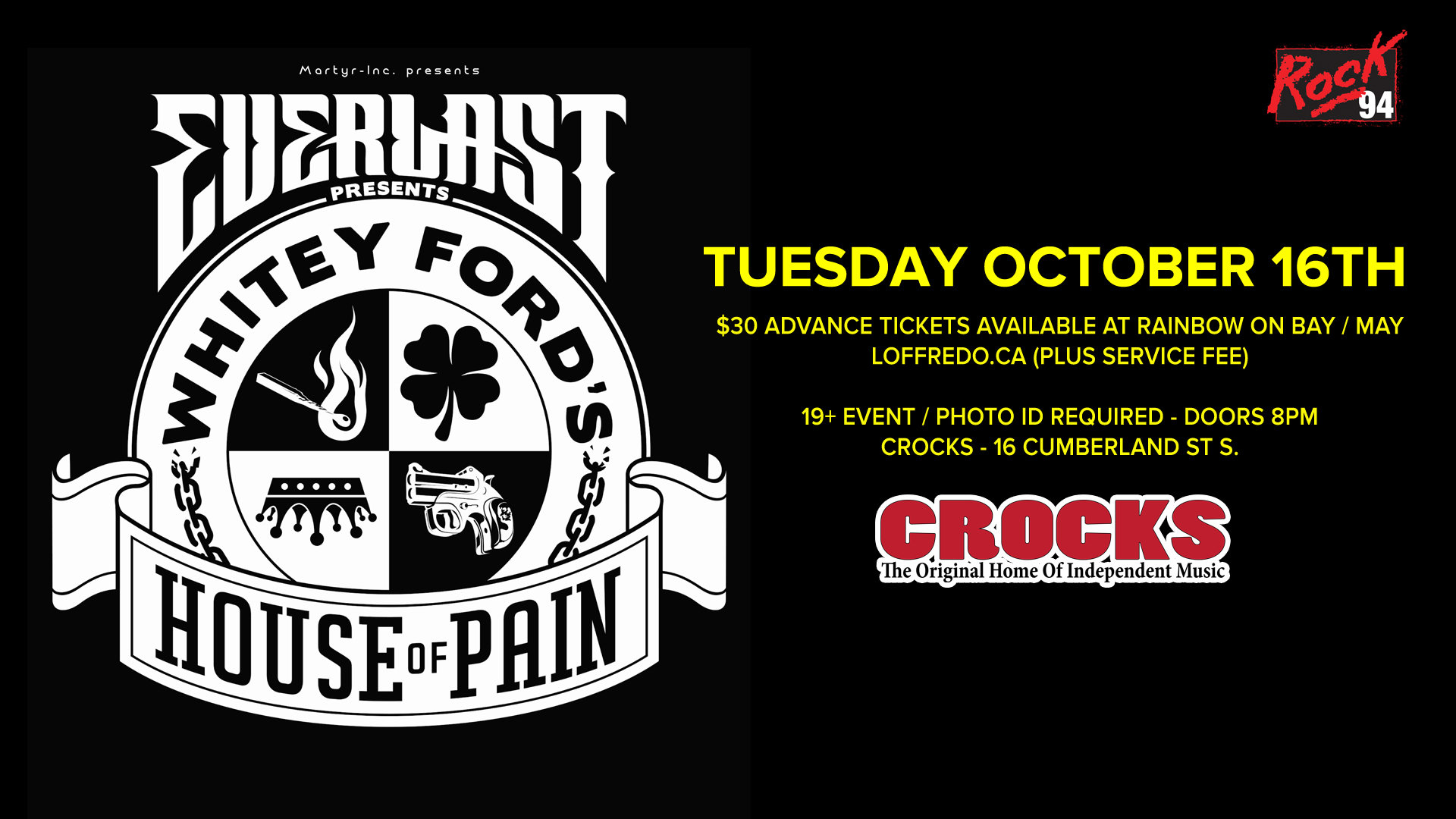 Everlast - Whitey Ford's House Of Pain Tour - Tuesday October 16th 00277