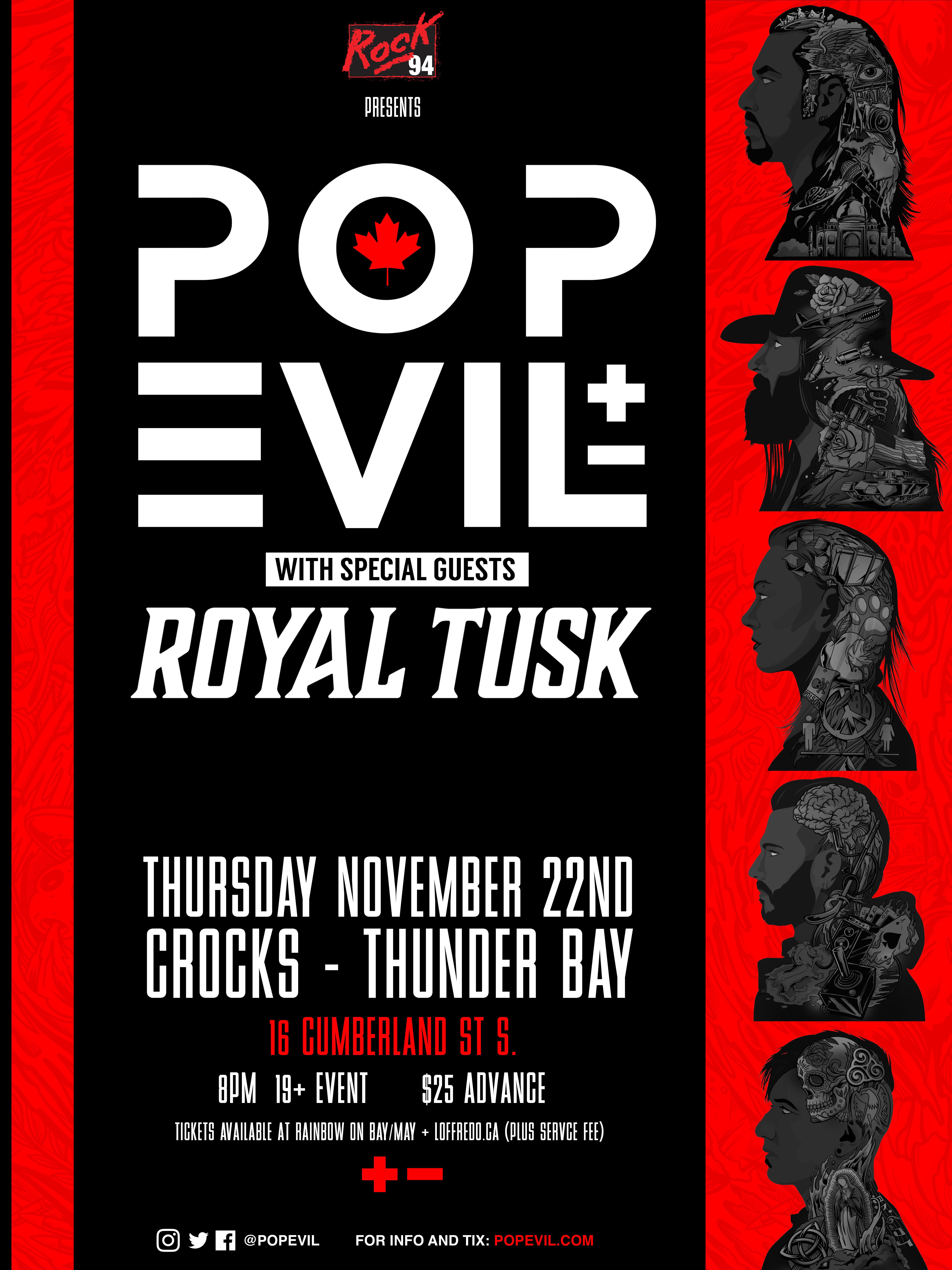 POP EVIL - November 22nd at Crocks 00280