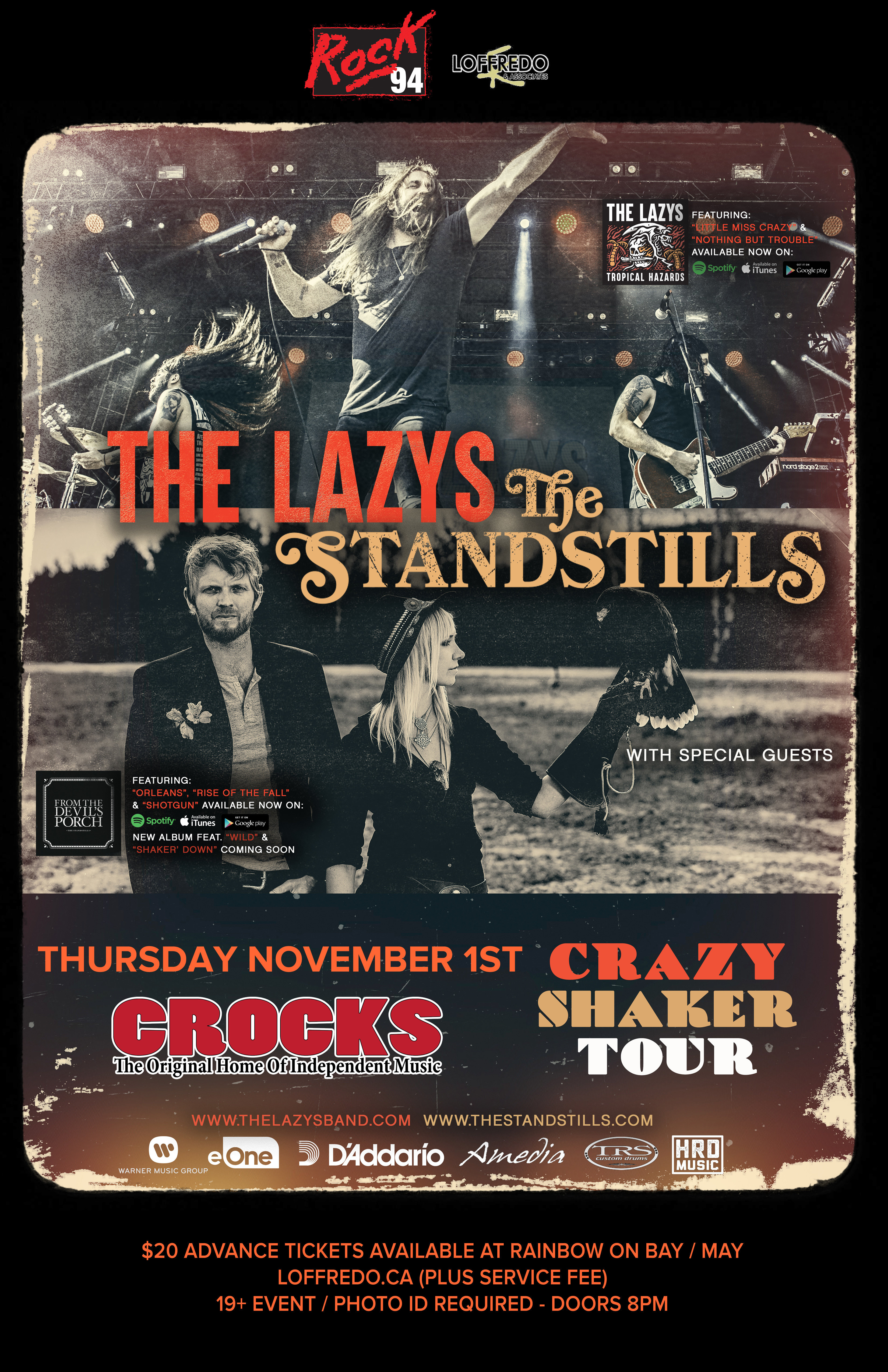 The Lazys & The Standstills - November 1st At Crocks 00281