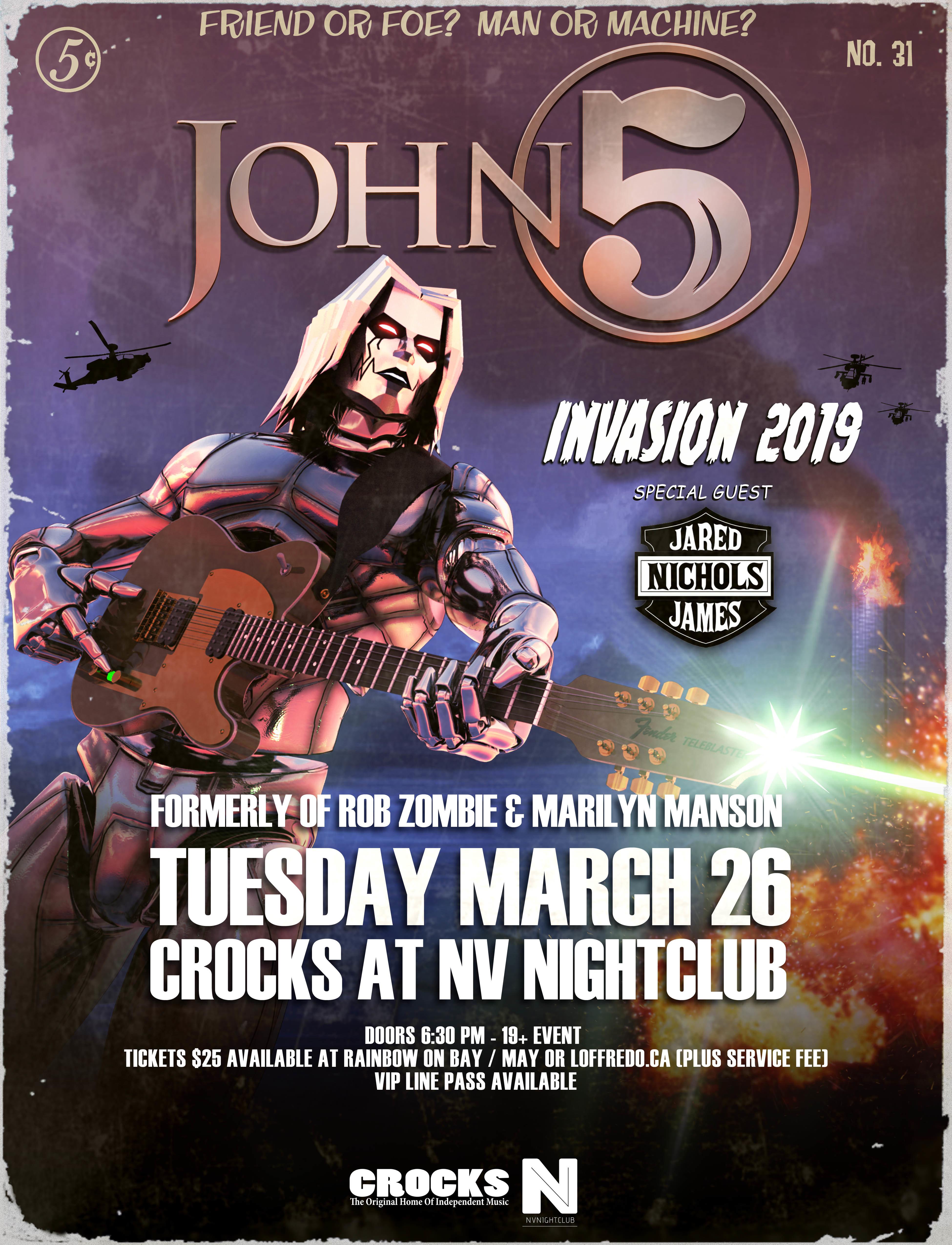 John 5 w/ Jared James Nichols - March 26th at Crocks 00284