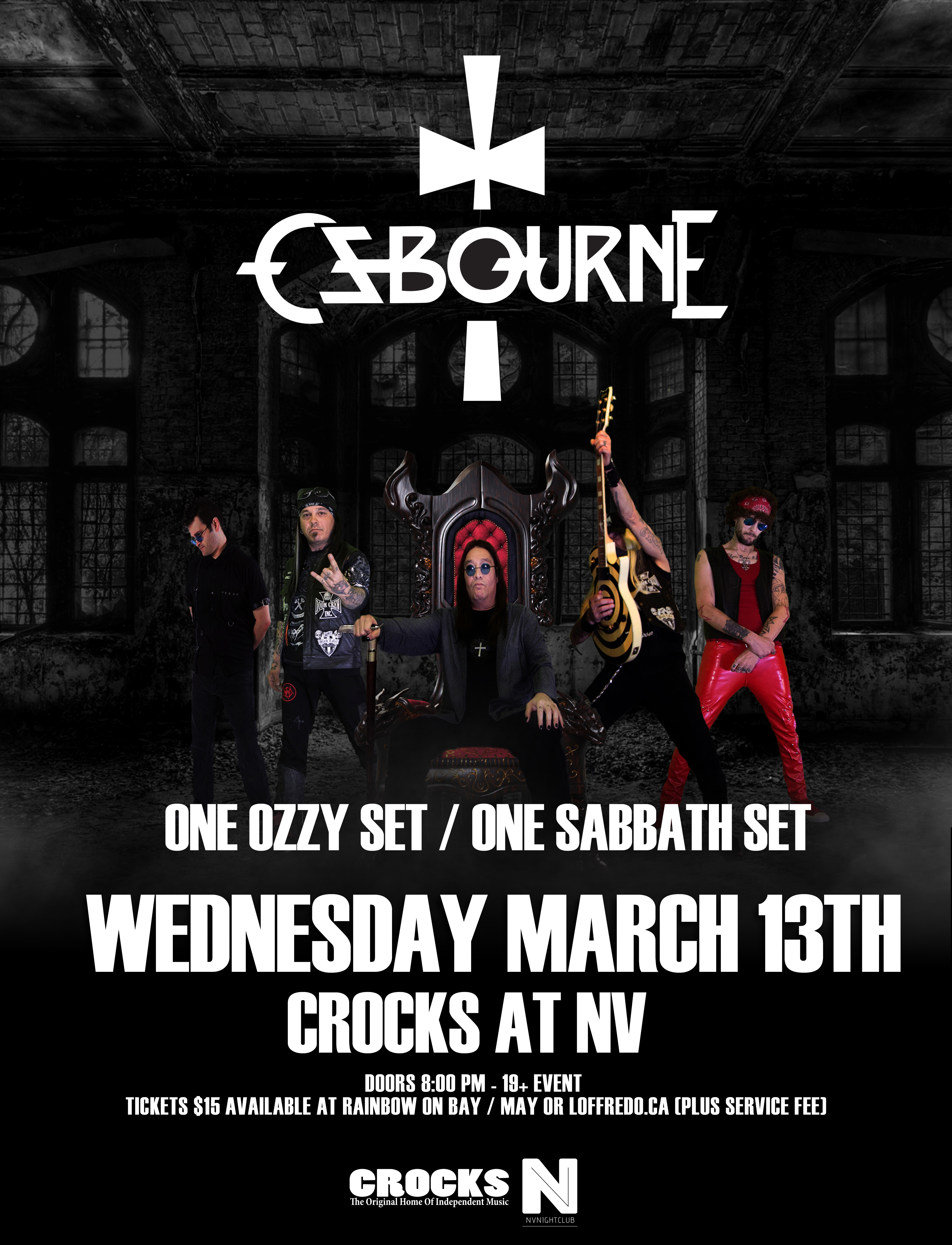 Ozbourne - The Ultimate Ozzy Experience - March 13 - Crocks At NV 00288