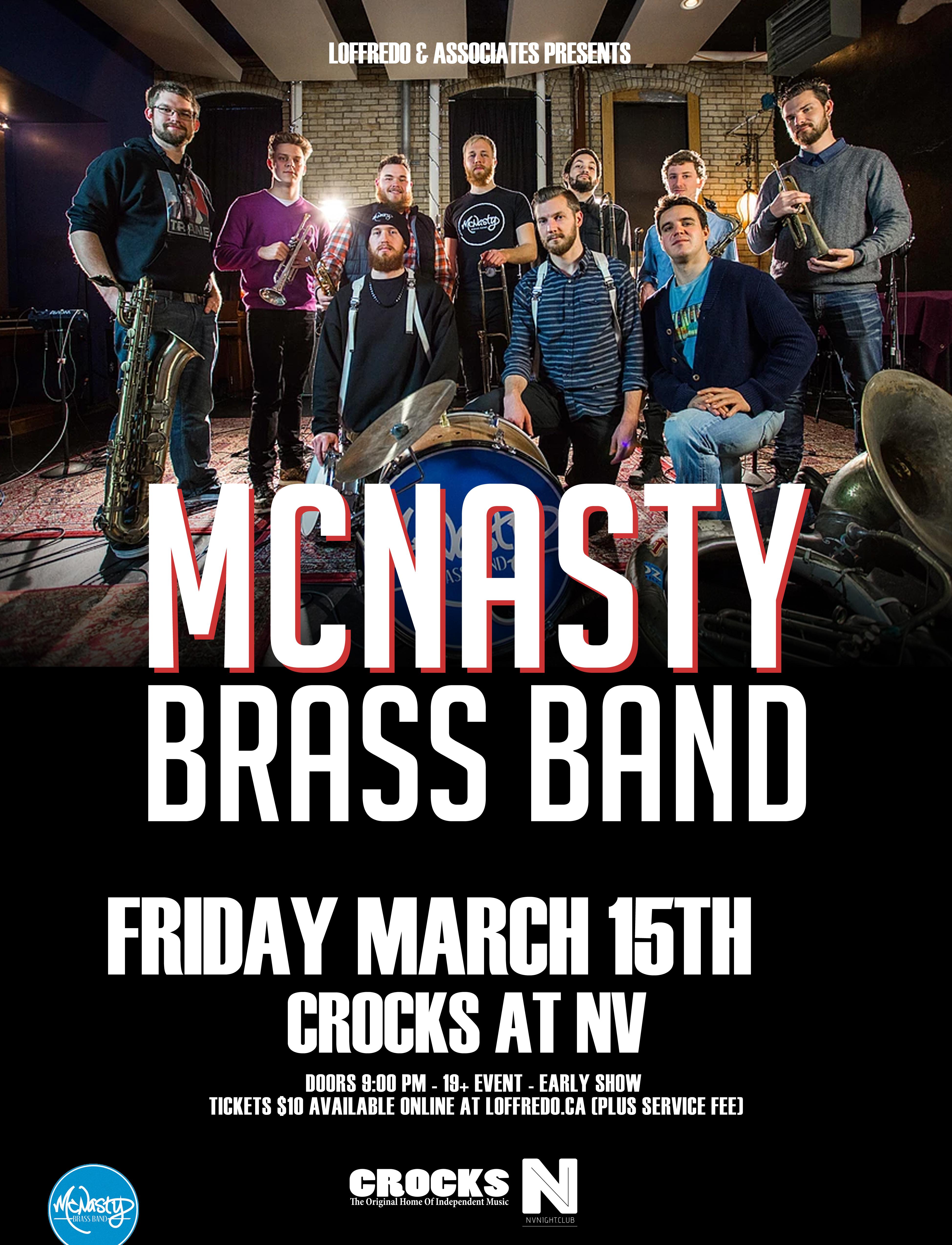 McNasty Brass Band - Friday March 15 - Crocks At NV 00290