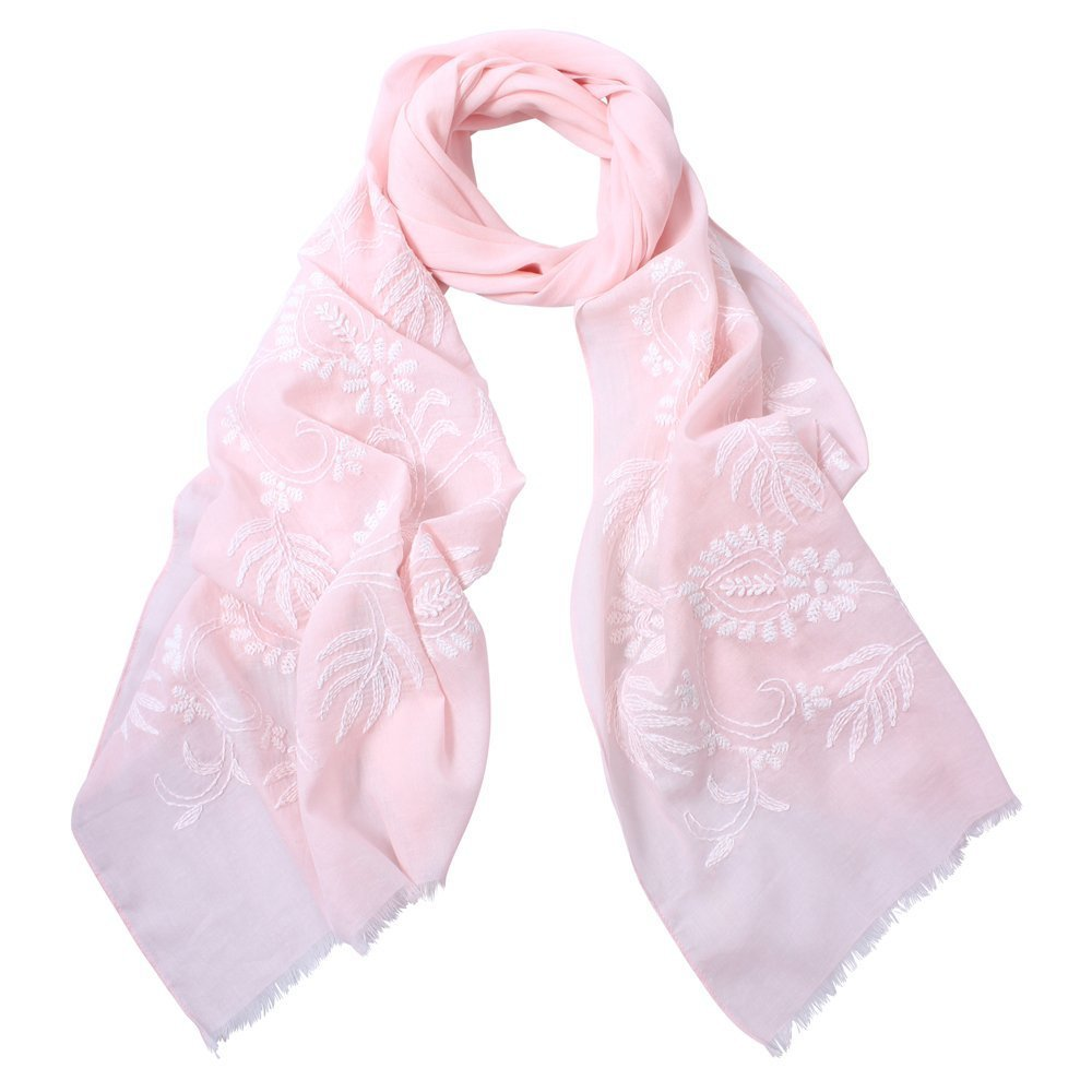 Dlux Fantasy Hand Embroidered Cotton Scarf