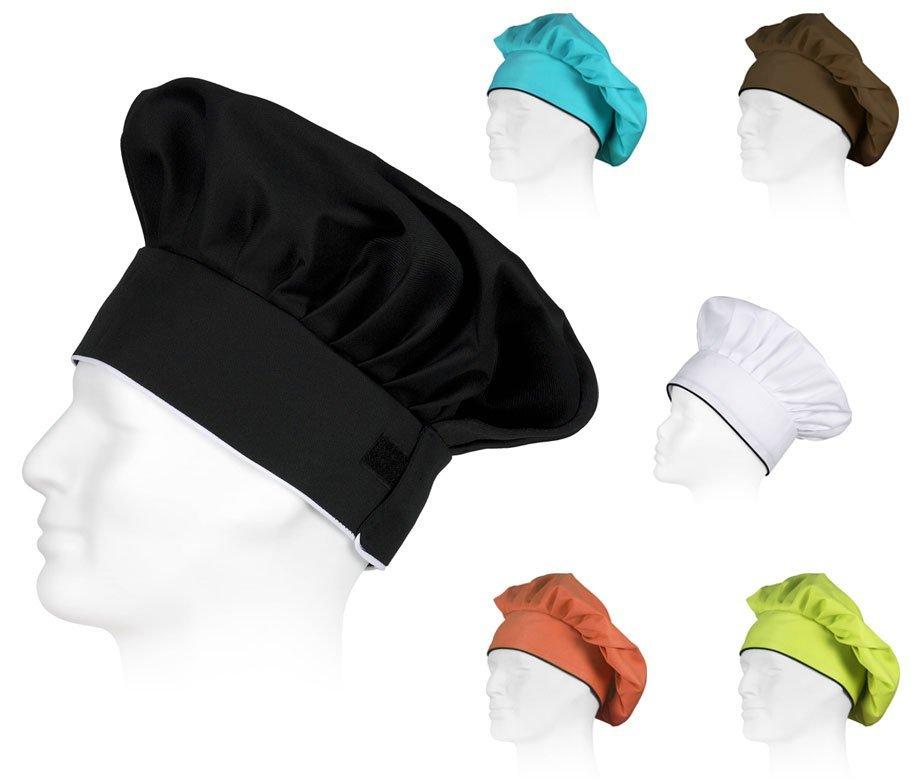 Shiwaki Cappello Unisex da Cuoco in Cotone Berretto da Chef Barista e Panettiere