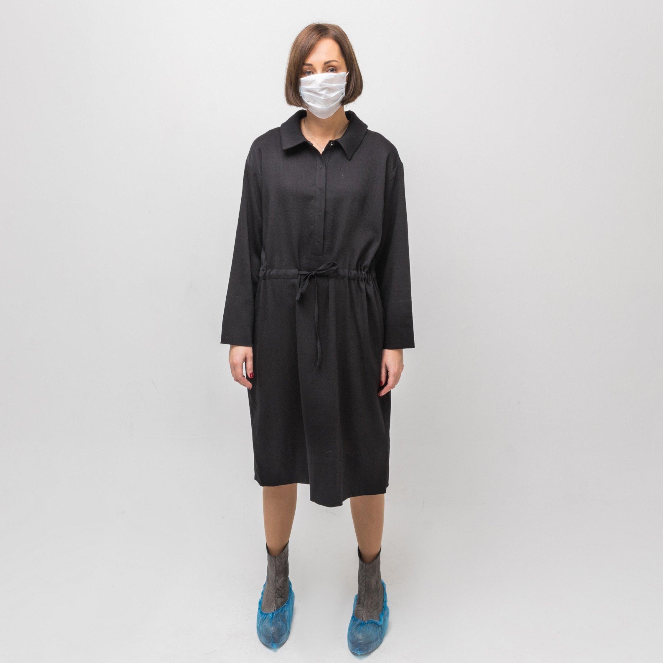 Платье черное 00012