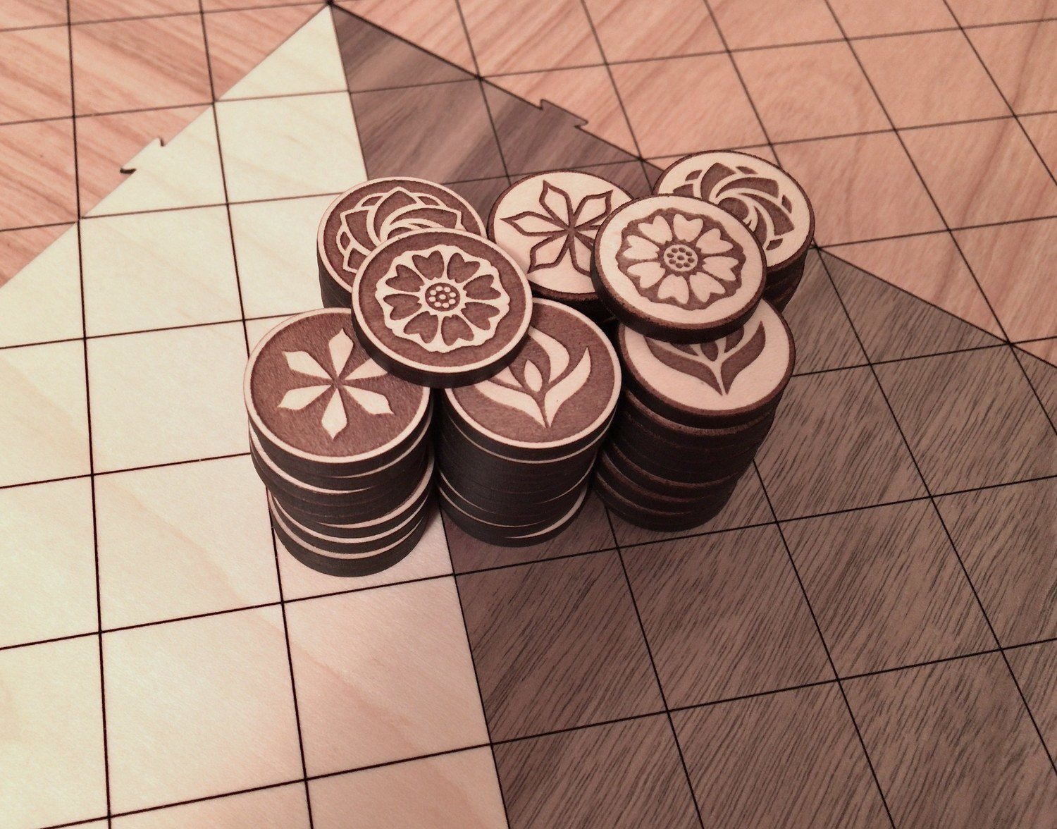 White Lotus Initiate Tiles - 2-Player Pai Sho Tile Sets