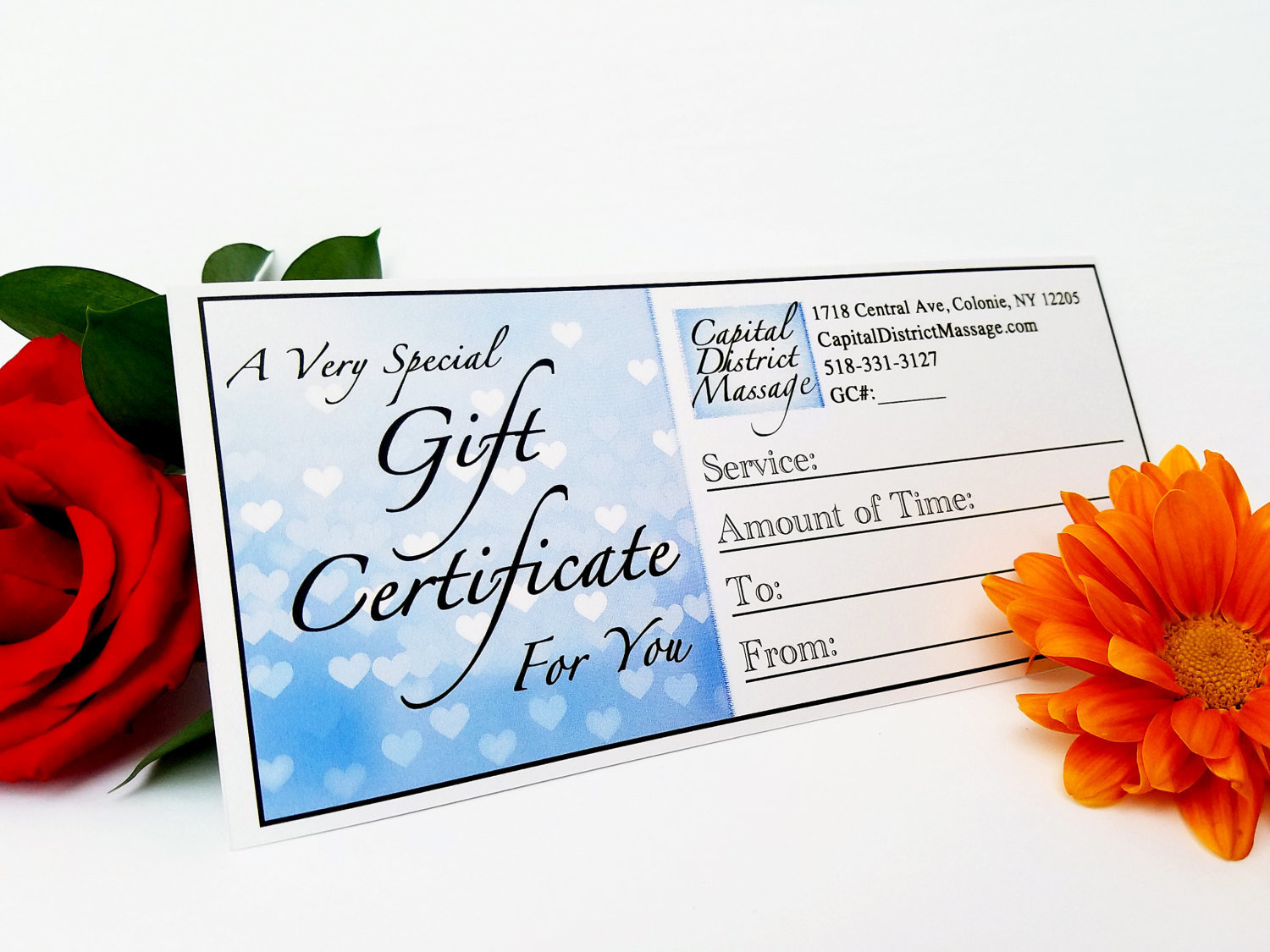 Couples Massage Class Gift Certificate CMCGC