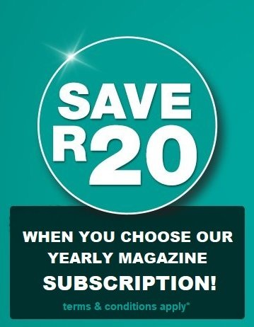 SAVE R20 on our Yearly Subscription