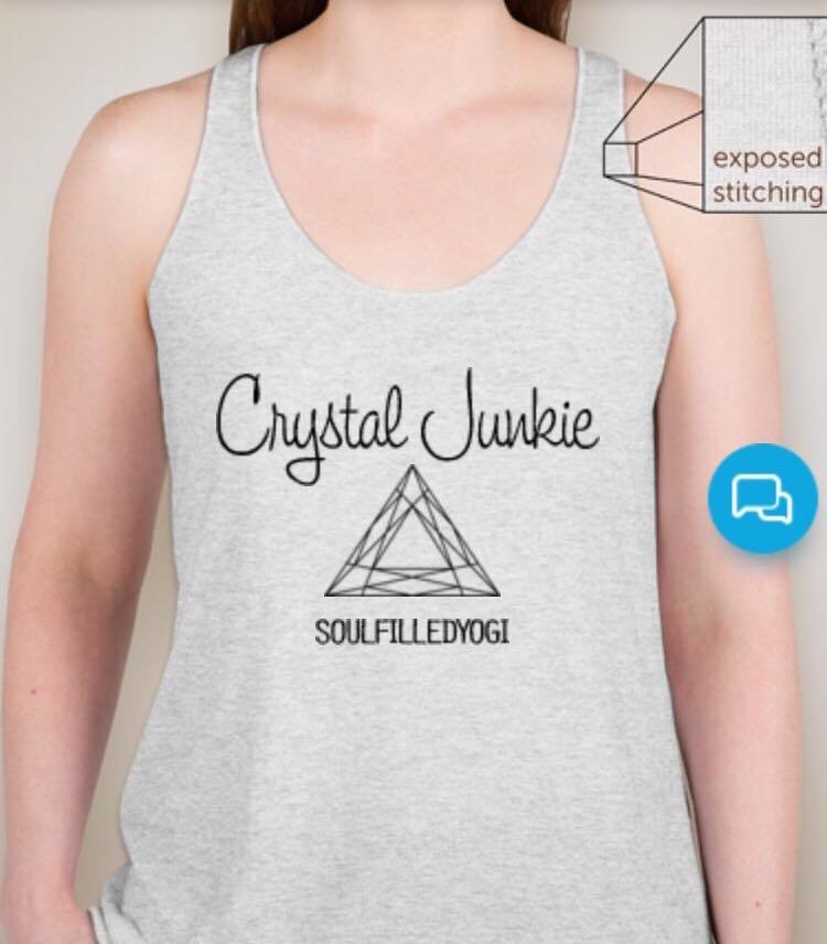 Soul Filled Yogi Crystal Junkie Racerback T-Shirt 5