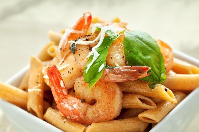 Fusilli Pasta/Shrimp, Olive Oil Parmesano-Romano, Artichoke-Spinach, Tomatoes (2 Servings) 004