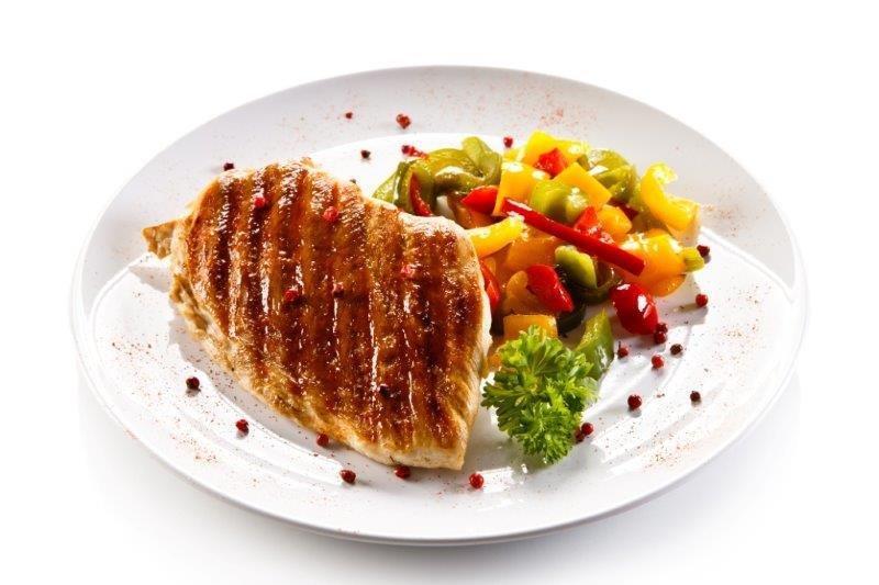 Roasted Chicken, Quinoa, Roasted Brussel Sprouts, Tomato, Pesto, Walnuts 009
