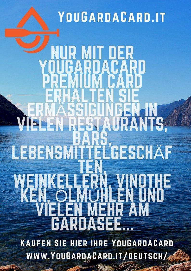 YouGardaCard - Ermäßigungen am Gardasee Vr