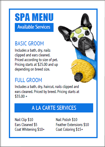 Dog Spa Ideas Pet Grooming