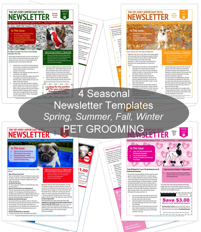 4 Seasons Newsletter Template Bundle