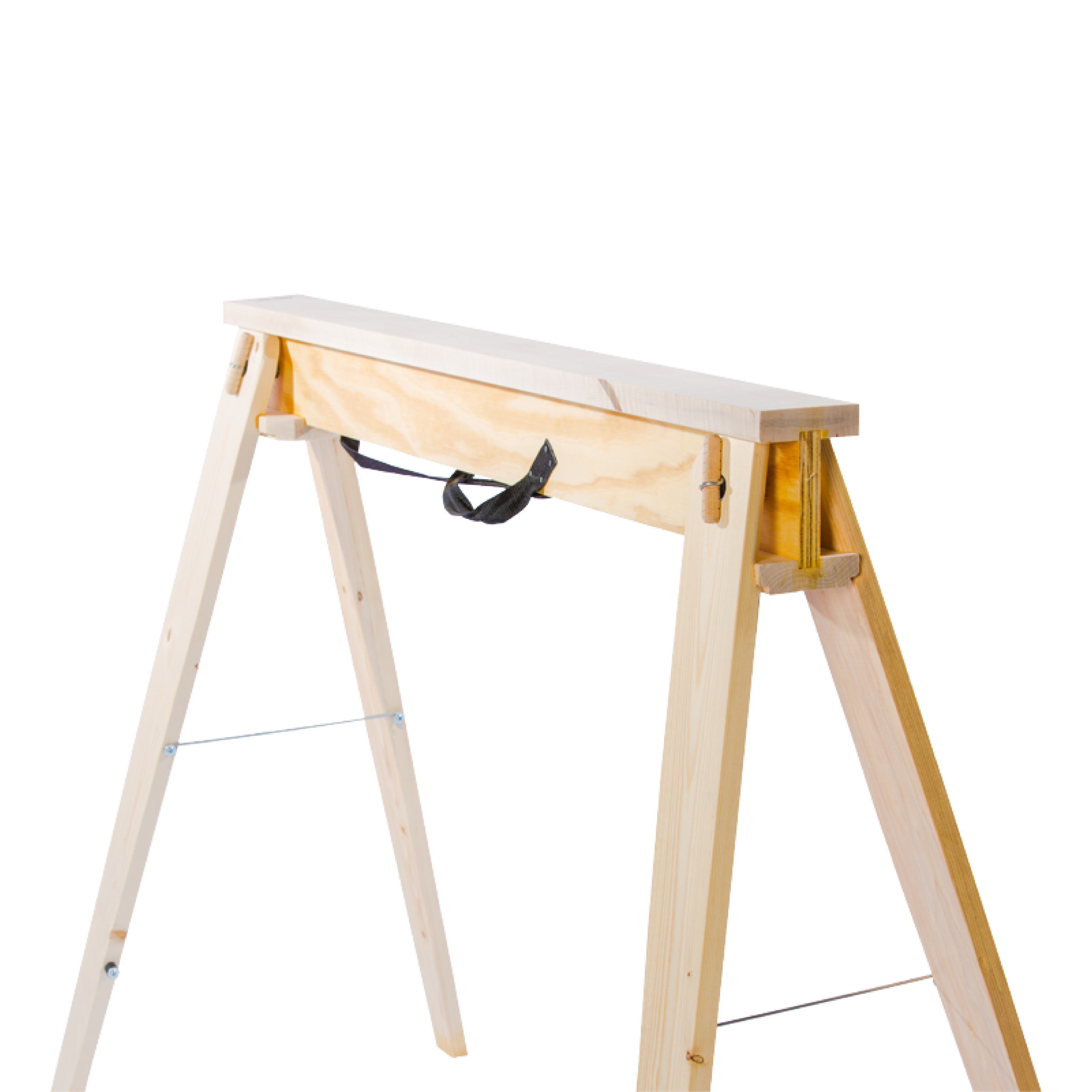 Front View of HideAHorse Folding Sawhorses