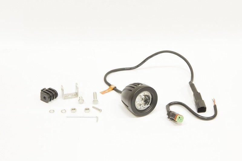 Фара дополнительная светодиодная круглая направленного света 10 Вт, 30 градусов. (СТОКРАТ) 00526