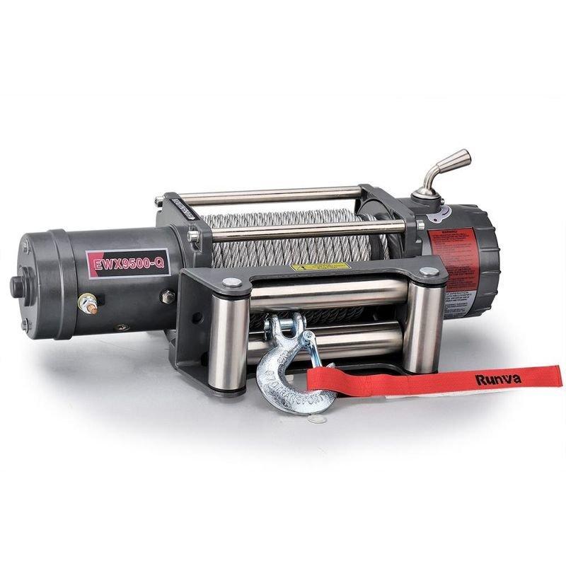 Лебёдка электрическая высокоскоростная 12V Runva 9500 lbs 4350 кг 01771