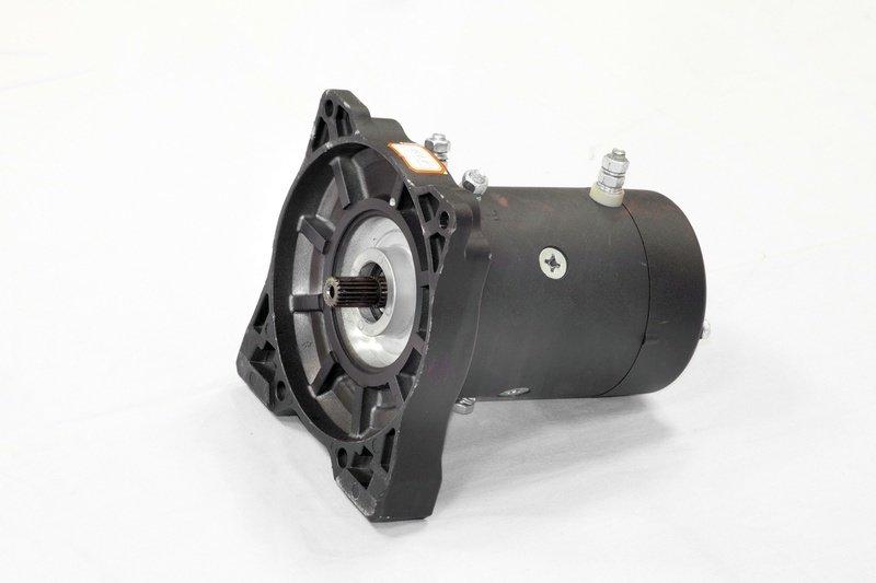 Запасной электромотор в сборе с боковиной для лебедки  СТОКРАТ HD 12.5 WP 02051