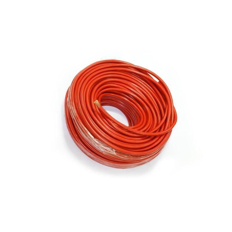 Медный провод для подключения выносной лебедки в изоляции из мягкого пластика сечением 25 квадратных мм (красная изоляция) 02200