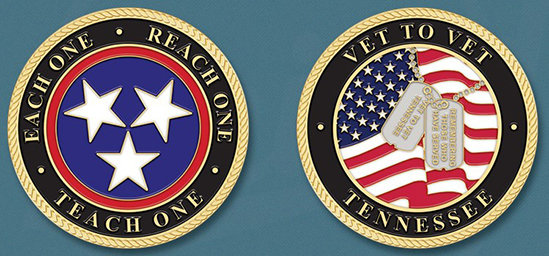 """Each One, Reach One, Teach One"" Challenge Coins 00003"