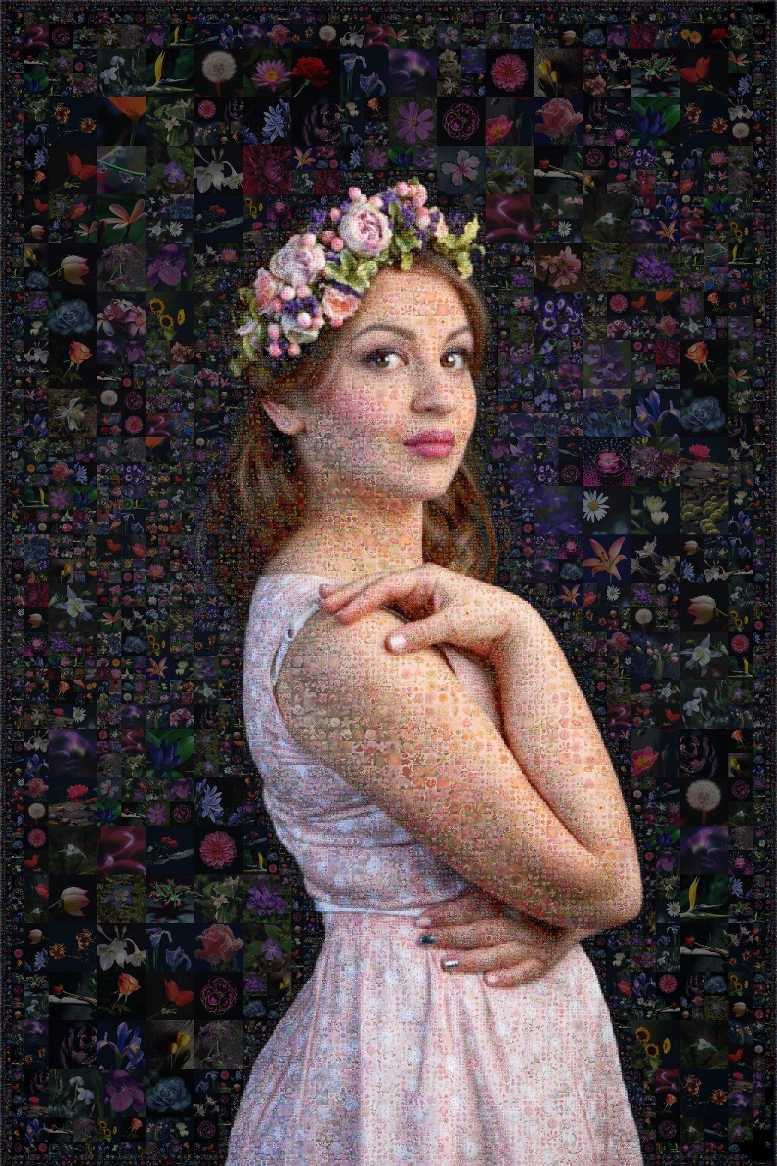 Портрет из цветов 00005