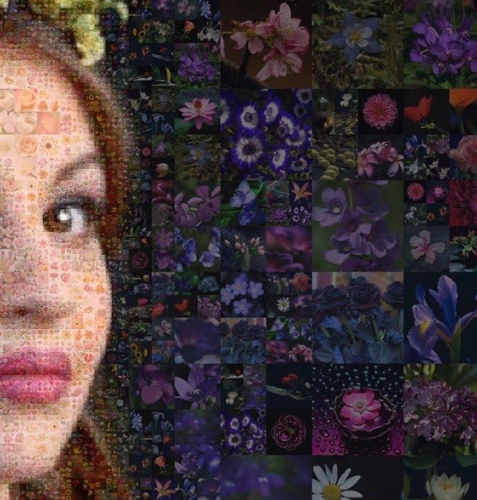 Портрет из цветов