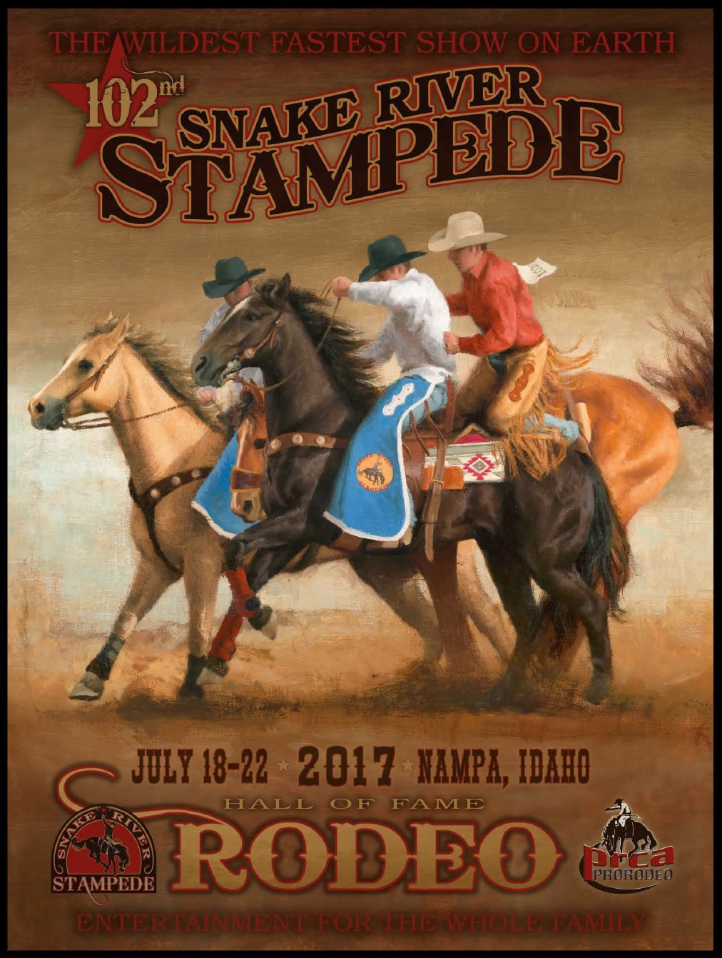 2017 Official Rodeo Poster Store Snake River Stampede