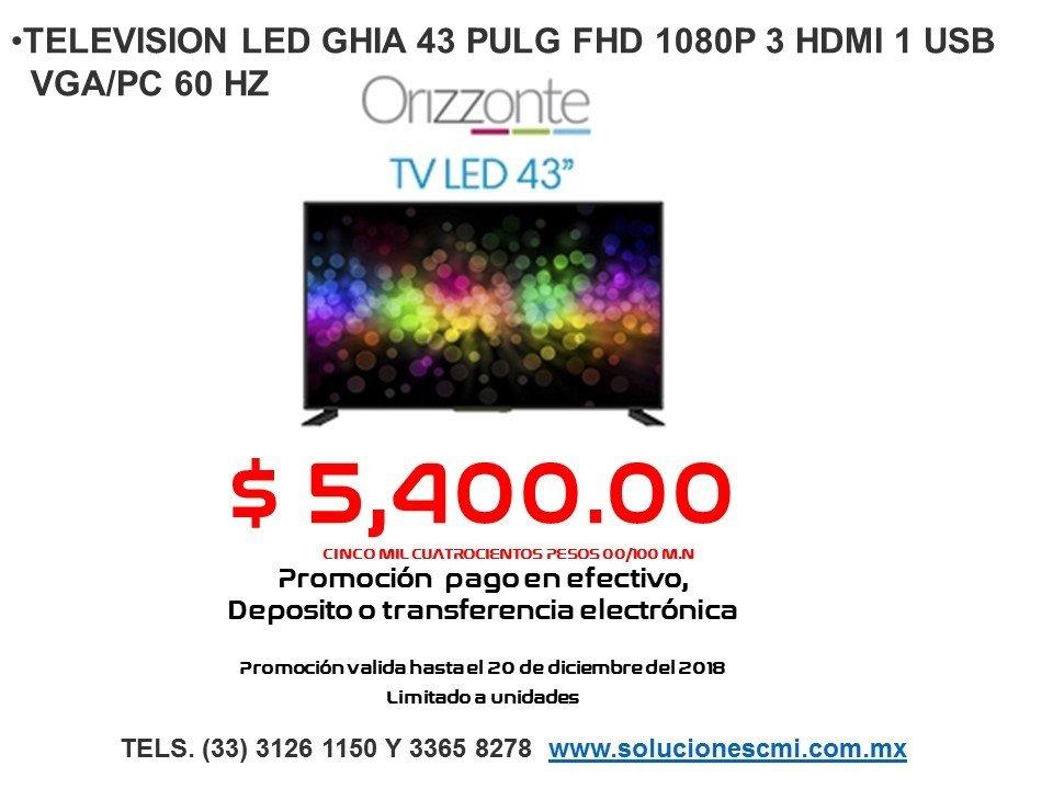 TELEVISION LED GHIA 43 PULG