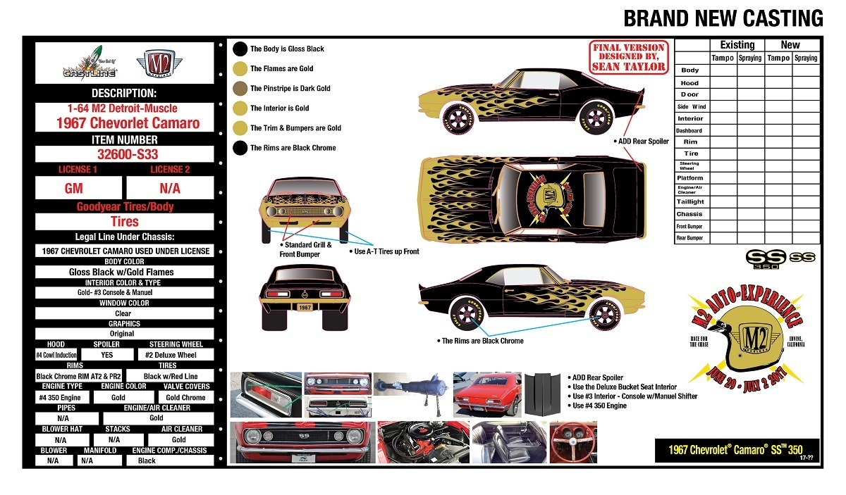 2017 M2 Experience '67 Camaro 2 Car Set Guaranteed Chase Pre Order 00033