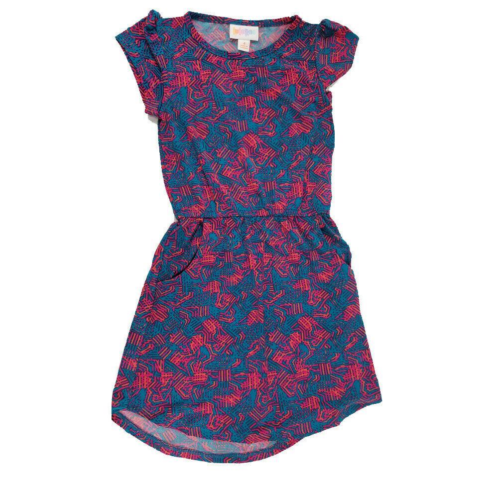 Kids Mae Lularoe Pocket Dress Size 2 Fits Kids 2t 4
