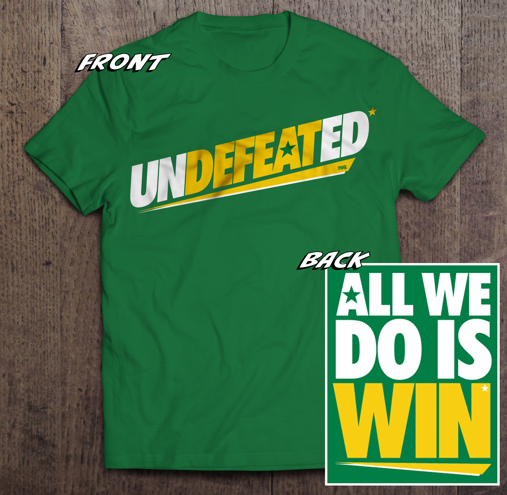 Undefeated* Tshirt TWIL-Shirt-Undefeated