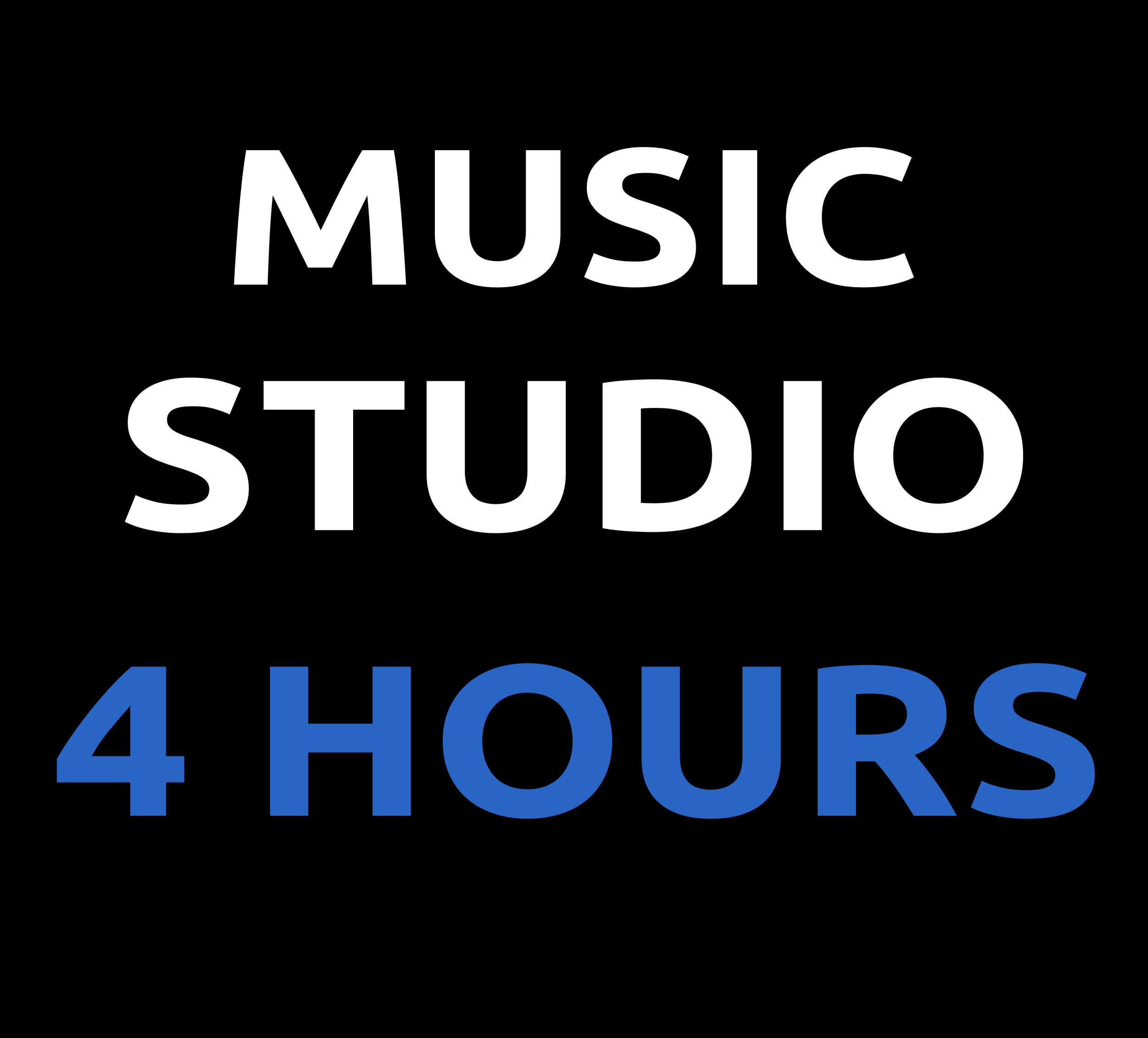 STUDIO TIME- 4 HOURS 02