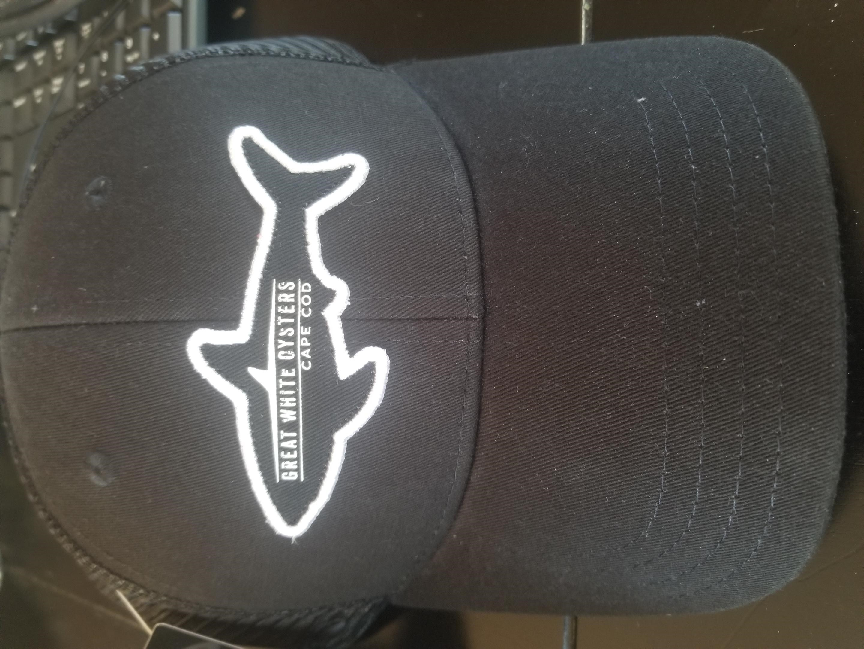 Great White Oyster Shark Hat - Black
