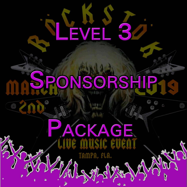 Level 3 Sponsorship Package Level3
