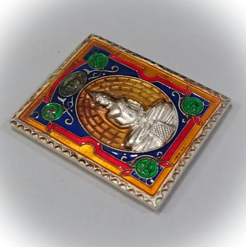 Pra Luang Por Sotorn silver with Benjarongk Glaze