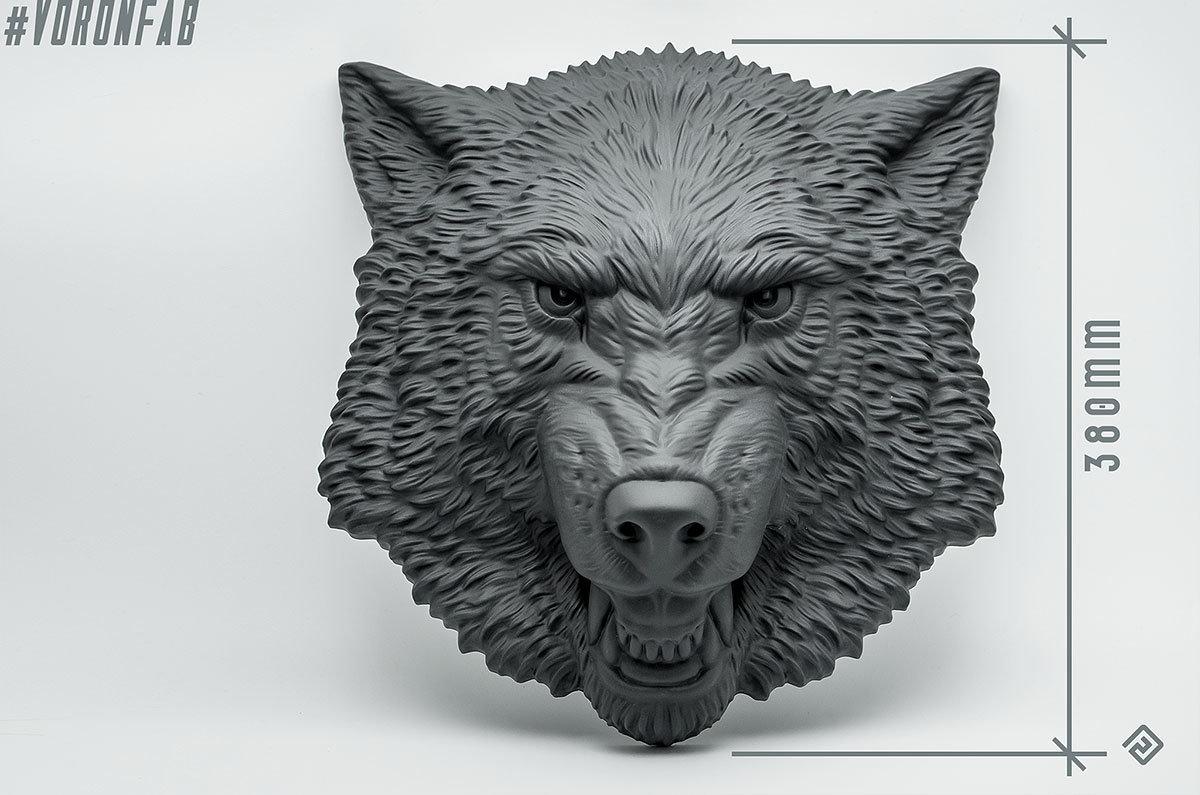 Growling Wolf Face relief sculpture wall decor