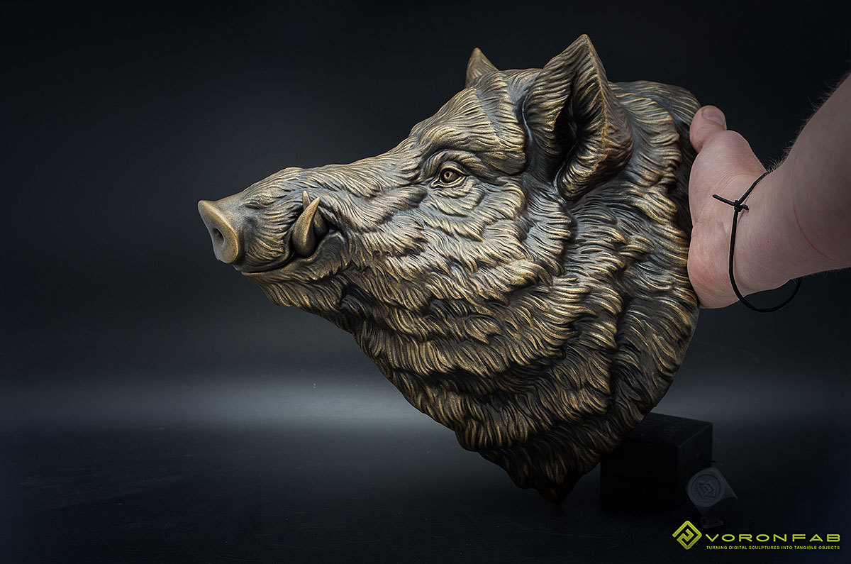 Large Wild Boar Head wall mounted Sculpture Faux Taxidermy 00006