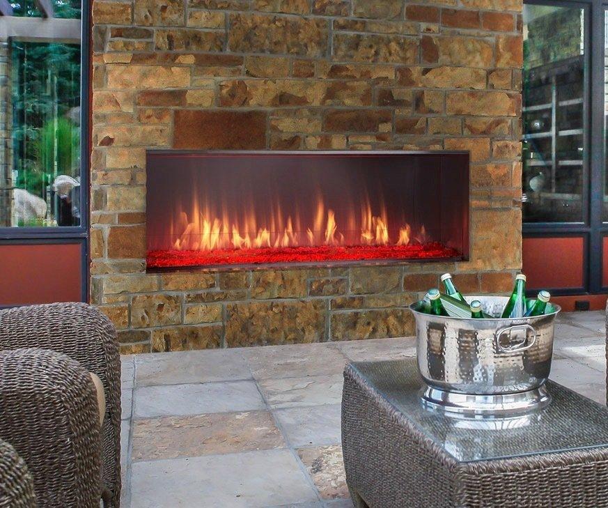 Lanai Outdoor Linear Gas Fireplace