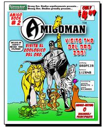 AMIGOMAN Visits the Zoo Cover
