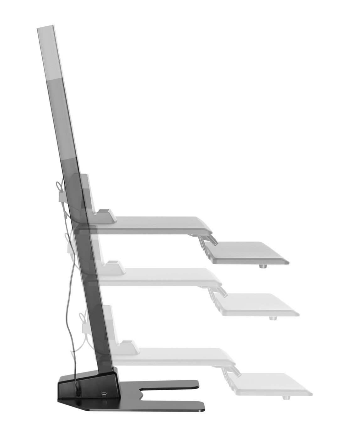 E-Lift side view showing height range