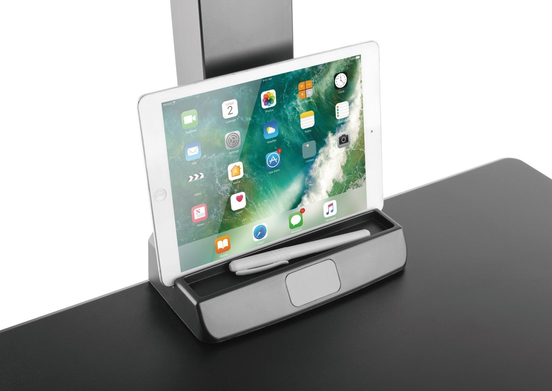 E-Lift worksurface organiser for tablet and pen
