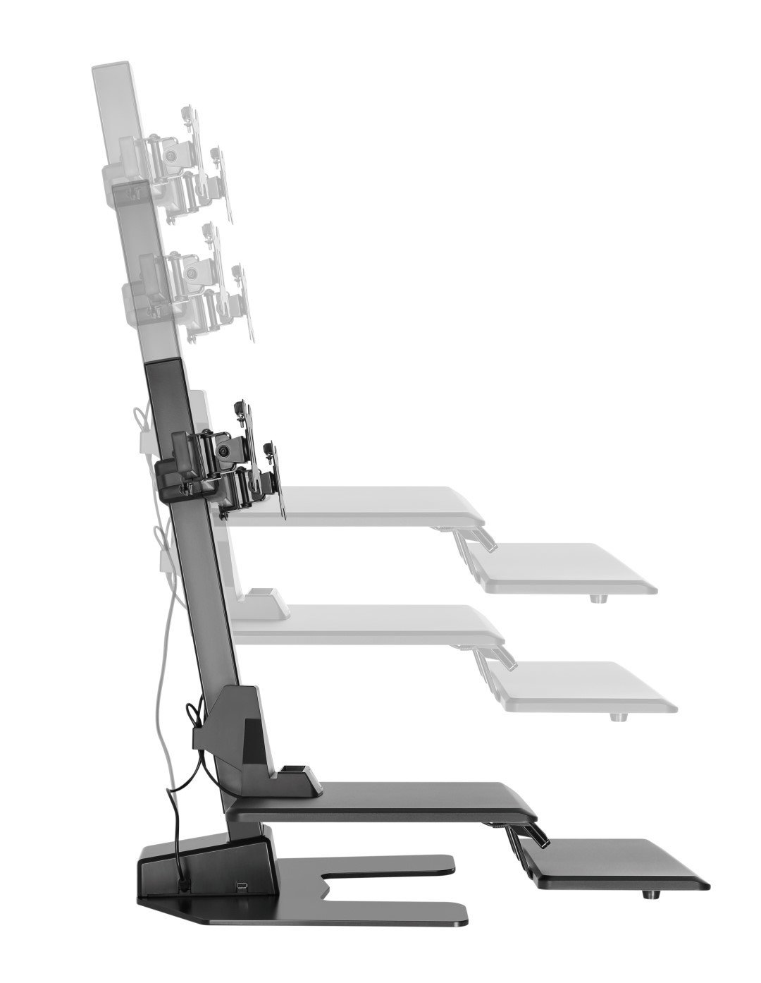 E-Lift D side view showing height range