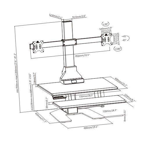 E-Lift D dimensions