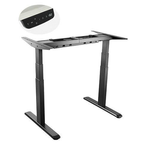 E-Desk frame graphite colour